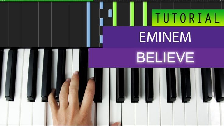 Eminem - Believe - Piano Tutorial + MIDI