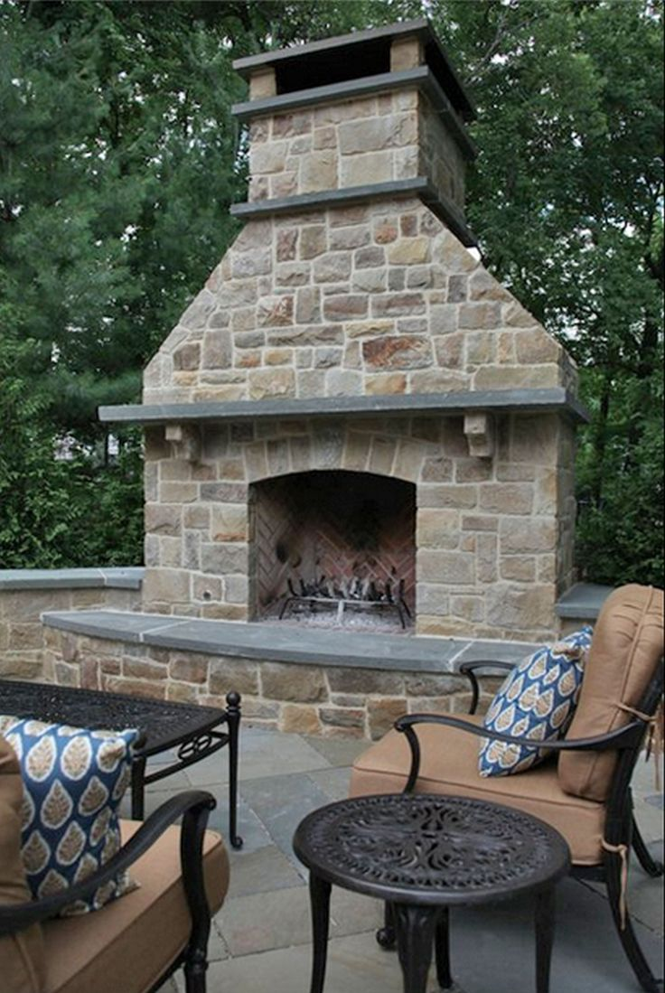 arts and crafts outdoor fireplace - Google Search