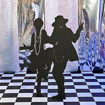 Our All That Jazz Dancing Couple is a silhouette of a couple who's movin' and shakin' to the Charleston. You won't find this party prop anywhere else!