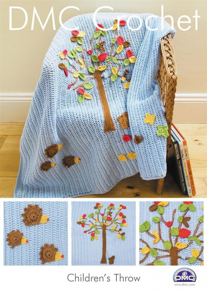 DMC Childrens Throw Petra Crochet Pattern