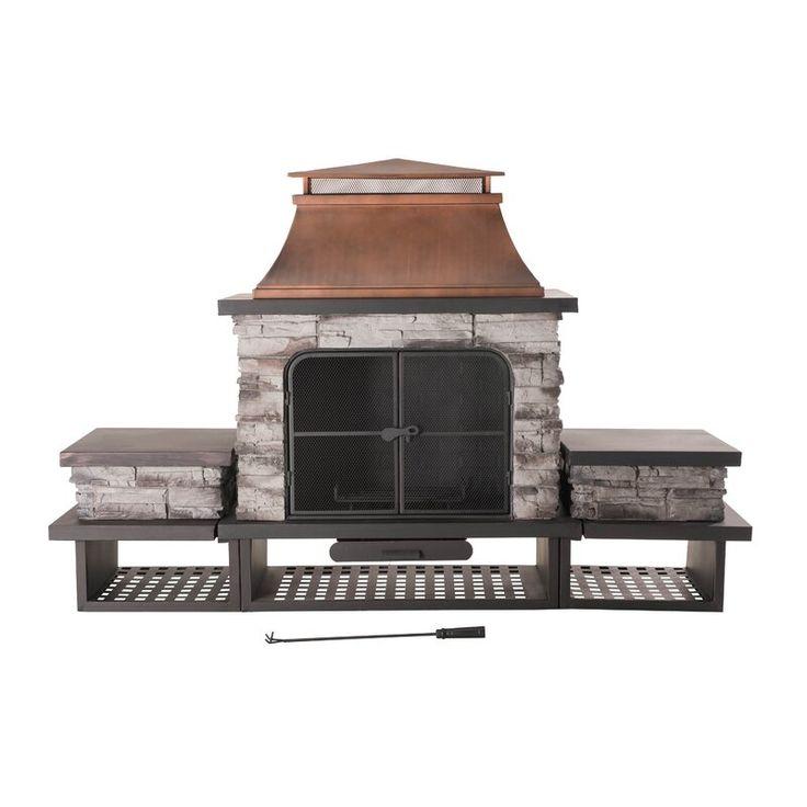 Canora Grey Quillen Steel Wood Burning Outdoor Fireplace ... on Quillen Steel Wood Burning Outdoor Fireplace id=30064