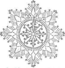 """Képtalálat a következőre: """"horgolt hópehely minta leírás"""""""