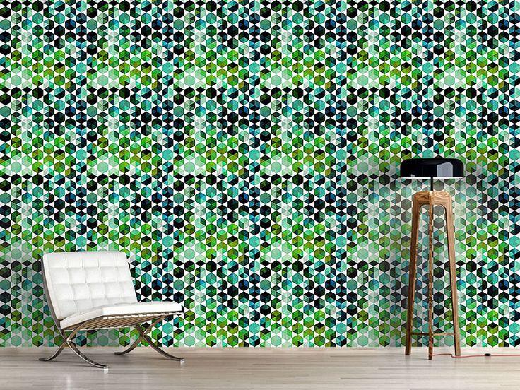 Design #Tapete Smaragd Sexagon