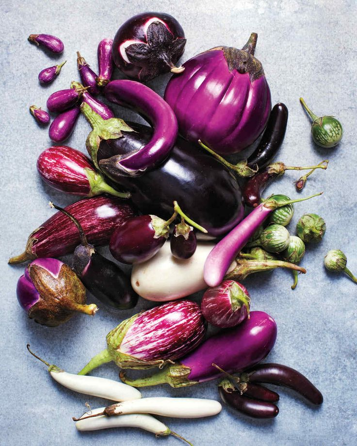 "EGGPLANT VARIETIES GUIDE. In the 17th century, British colonizers in India saw white ovals sprouting from the ground and called them ""egg"" plants; since then, this vegetable that's actually a fruit has been cultivated all around the world in a range of colors, shapes, and sizes. Almost as varied: the many ways to cook -- and enjoy -- them."