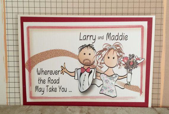 Funny Wedding Card  Personalized Wedding Card  by ThePlaidKangaroo