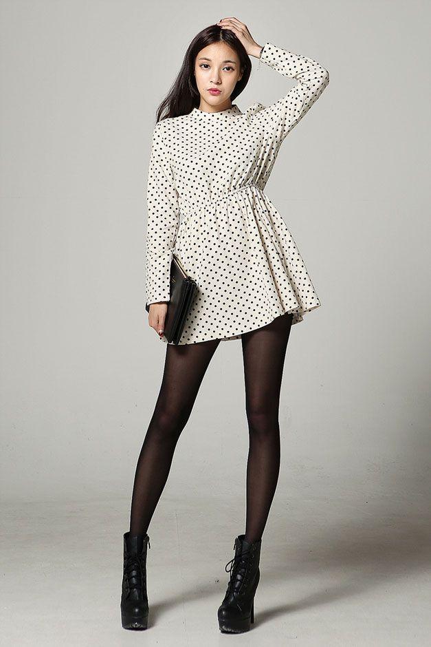 Dot Sleeve Mini Dress Mini Dress With Sleeves Polka Dot