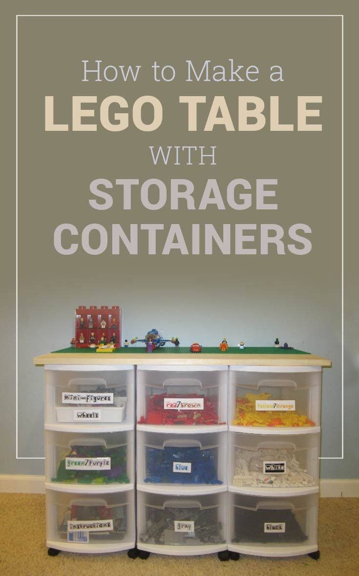 How to Make a Lego Table – with Storage Containers – Three Thrifty Guys