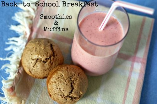 Back to School Breakfast: Smoothies and Muffins | | Blissfully DomesticBlissfully Domestic: Breakfast Smoothies, Food Breakfast Brunch, Bfast Ideas, Back To Schools, Schools Breakfast, School Breakfast, Bliss Domestic, Gf Muffins, Breakfast Gf