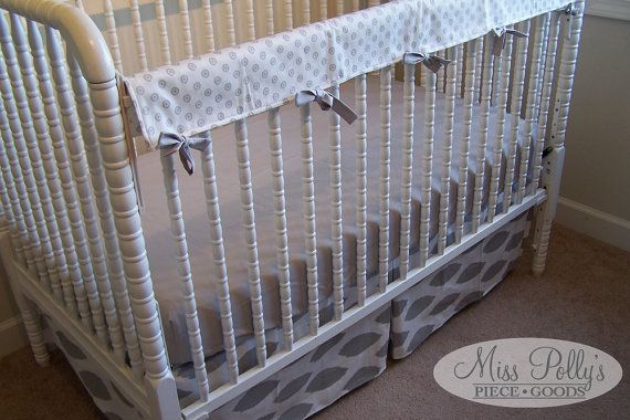 Custom Baby Crib Bedding- Design Your Own- Crib Set with Skirt, sheet and Rail Guard