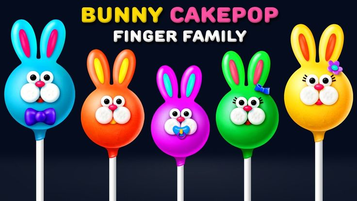 Bunny Finger Family Song | Nursery Rhyme | Bunny Cakepop Finger Family Songs for kids