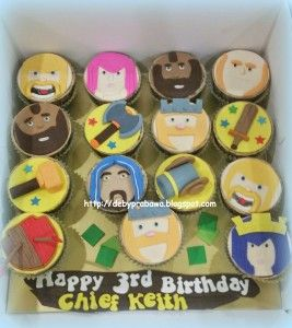 Clash of Clans cupcake design by Deby Prabawa