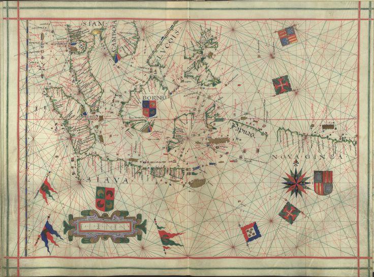 """Il. 171 - 0036 Fernão Vaz Dourado (1520-1580) -  """"Atlas"""" / [Atribuído a Fernão Vaz Dourado]. [Cerca de 1576].   BNP IL. 171"""