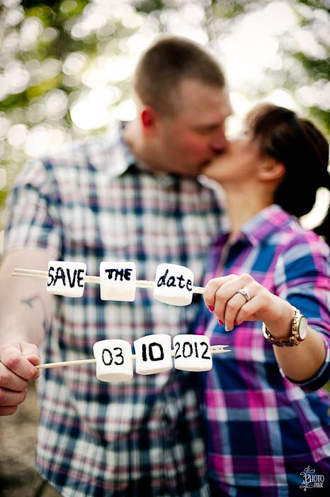 Perfect save the date for a couple doing their wedding a park or place where people camp...
