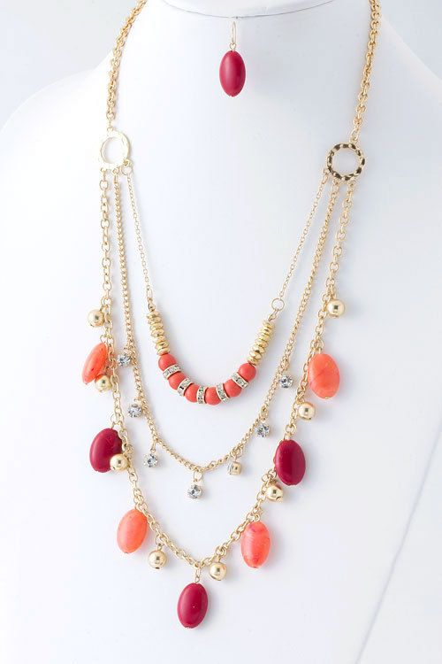Summer Fun Multi Layer Necklace by GracieJewels on Etsy, $15.00