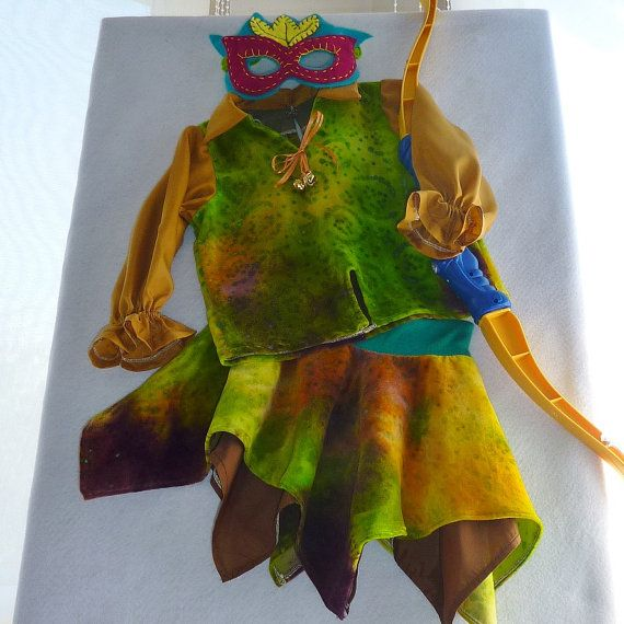 Girl's Elf Gypsy or Bohemian Costume Hanky Skirt by TwinsFromOz, $95.00
