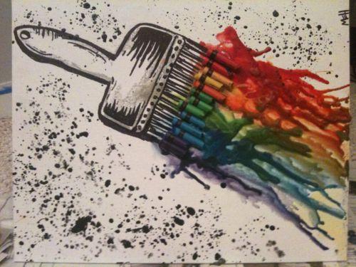 Melted Crayon Art Paint Brush @Katie Hrubec Hrubec Hrubec Hrubec Hrubec Schmeltzer Schmeltzer Tilbury