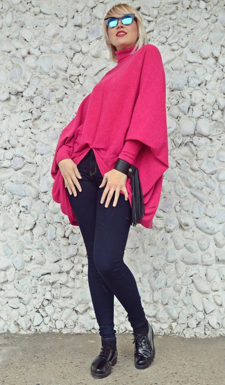 New in our shop! Fuchsia Extravagant Top / Loose Fuchsia Sweater / Fuchsia Acrylic Sweater / Extravagant Acrylic Top TT109 JAZZ UP! https://www.etsy.com/listing/502035019/fuchsia-extravagant-top-loose-fuchsia?utm_campaign=crowdfire&utm_content=crowdfire&utm_medium=social&utm_source=pinterest