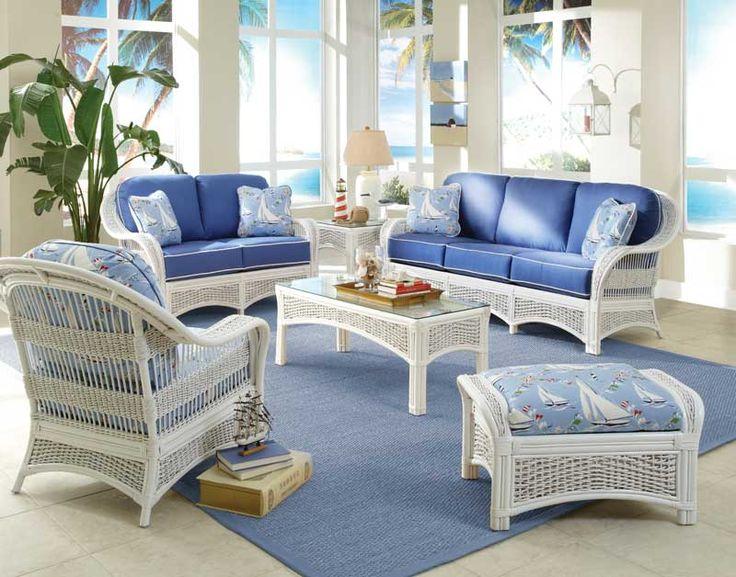 Beach Cottage Furniture Sea Scape Wicker Furniture