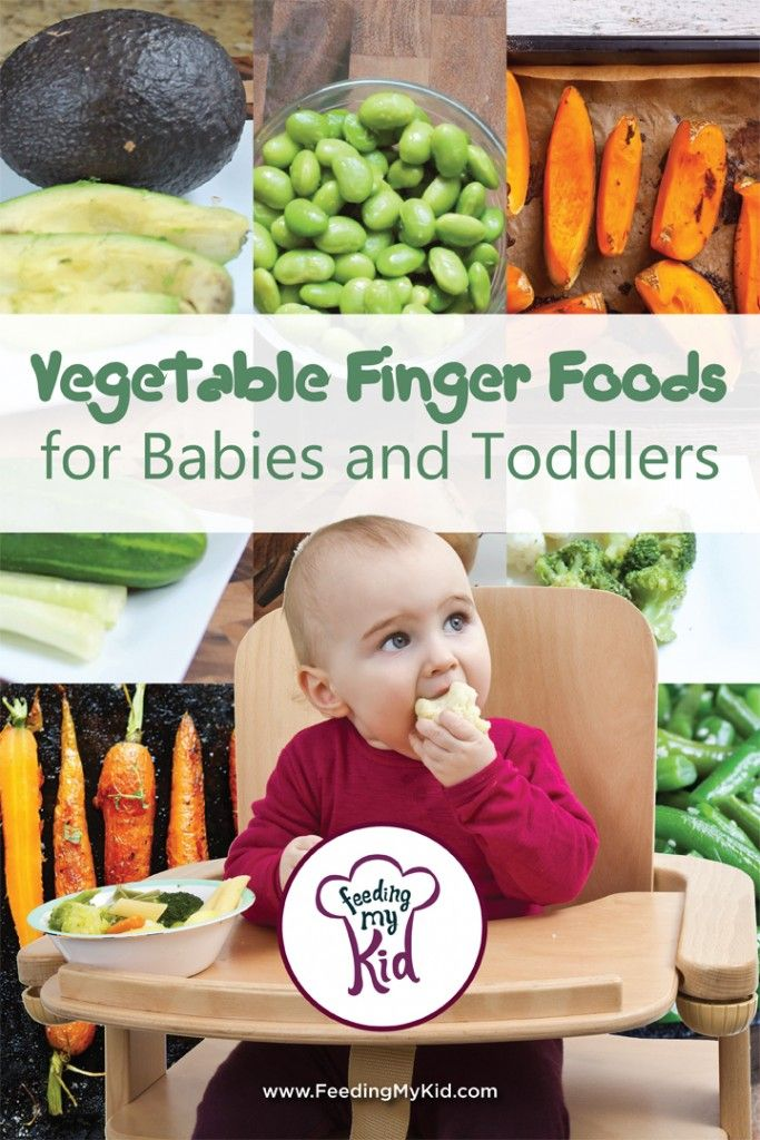 Vegetable Finger Foods for Babies Toddlers. Also links to fruit finger foods and cooked finger foods lists!
