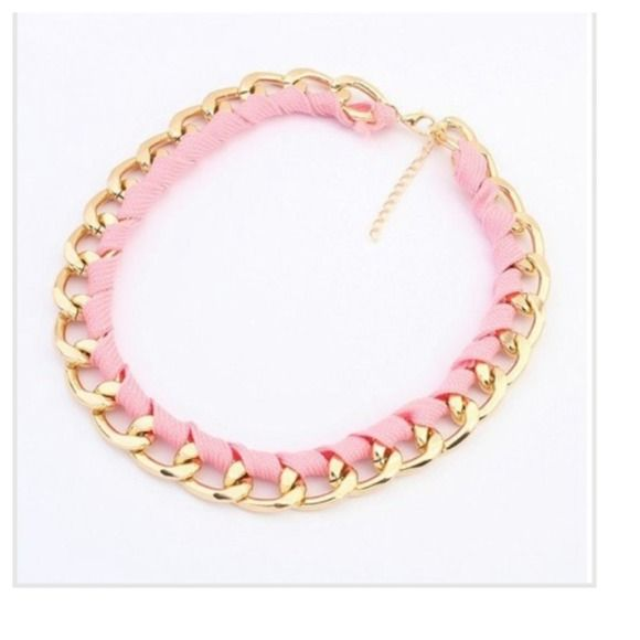 Choker trendy necklace Final price✂️ Chunky chain link & fabric necklace Jewelry Necklaces