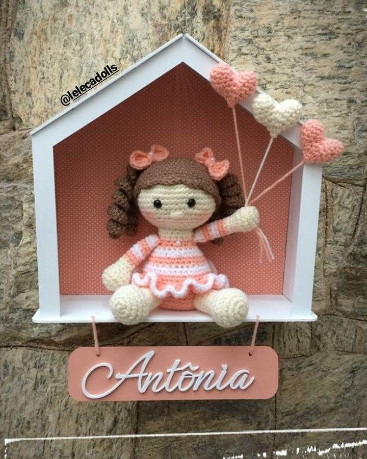 Quadro Porta Maternidade Amigurumi Sob Encomenda - R$ 189,90 em ... | 900x720