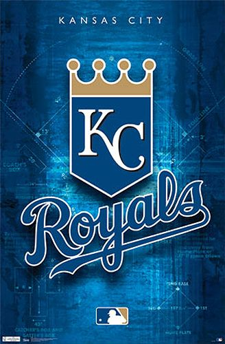 Kansas City Royals Baseball Official MLB Team Logo Poster - Costacos Sports Inc.