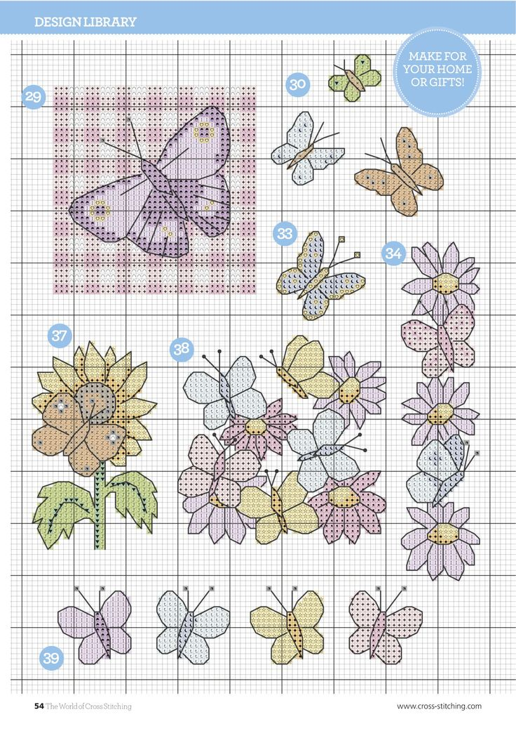 Beautiful Butterflies From The World of Cross Stitching N°240 April 2016 8 of 9