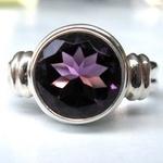 A handmade LotusMoon Amethyst ring $149