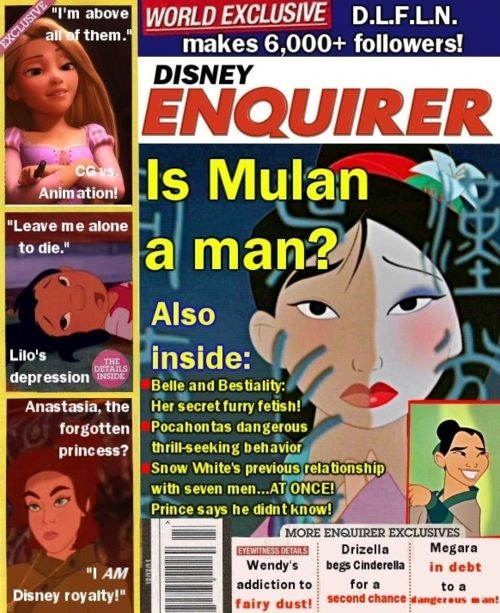 HAHA!Laugh, Disney Enquir, Disney Tabloid, Disney Princesses, Funny Stuff, Humor, Things, Anastasia, Disney Movie