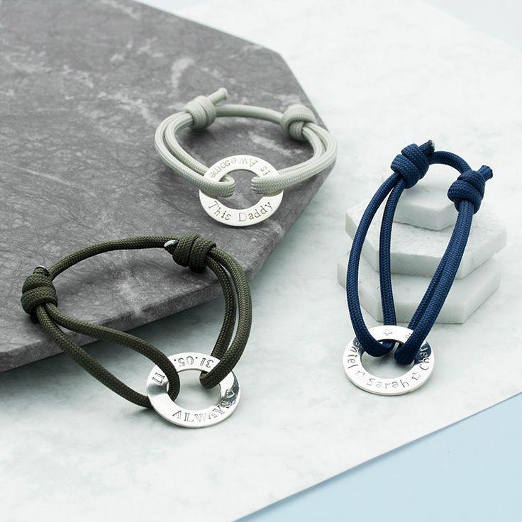 Personalised Custom Adjustable Paracord Bracelet  for both men and women.