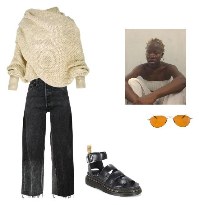 """""""Untitled #209"""" by charlottemartin ❤ liked on Polyvore featuring RE/DONE, Oliver Peoples and Dr. Martens"""