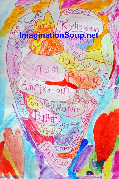 Heart Mapping for #Valentine's Day #kids #writing