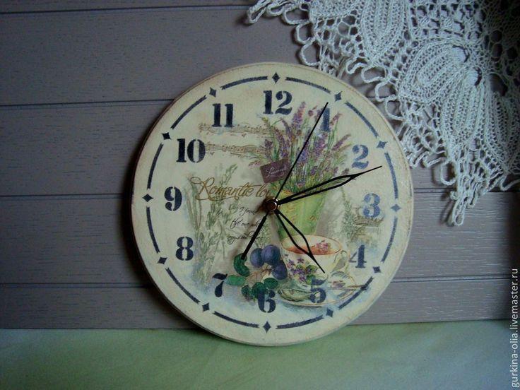 """Купить Часы """" Натюрморт с лавандой"""" - прованс, большие часы, часы для дома, часы на подарок"""