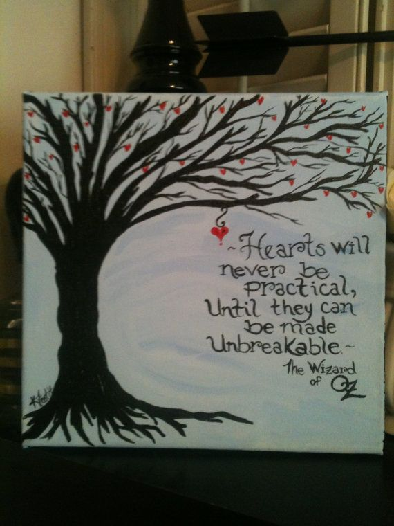 Wizard of Oz quote on 12 x 12 canvas by OurBurrowDesign on Etsy, $20.00
