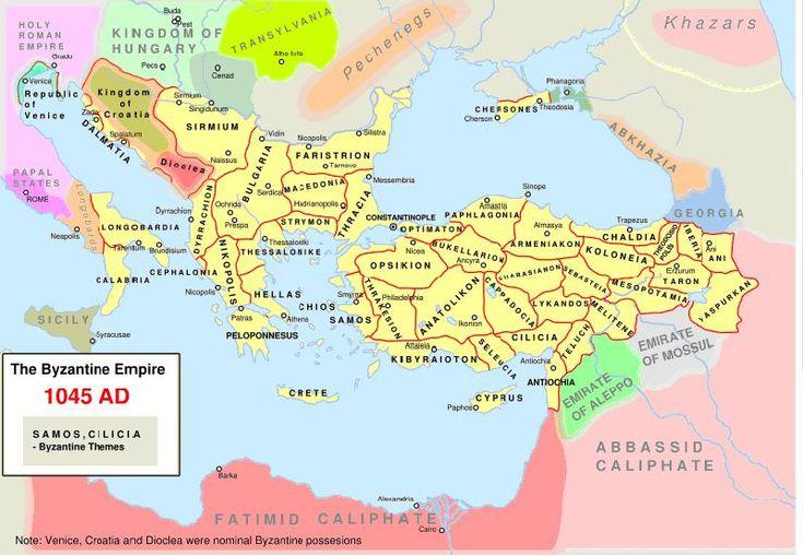 L'impero bizantino nel 1045 - Thema - Wikipedia