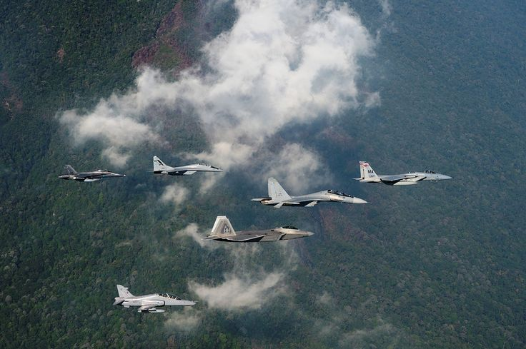 One of the most outrageous Dissimilar Air Combat Training (DACT) opportunities, Cope Taufan 2014 brought together US Air Force F-22 Raptor and F-15C Eagle with Royal Malaysian Air Force Su-30MKM Flanker, MiG-29N Fulcrum, F/A-18D Hornet and BAE Hawk
