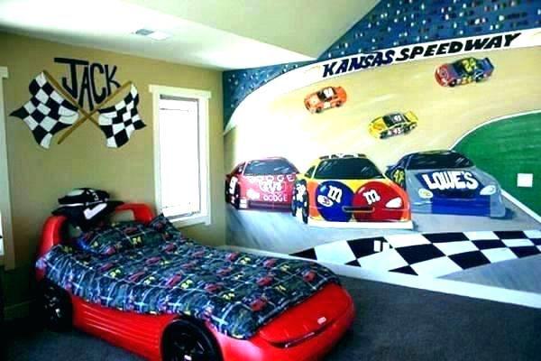 Car Wall Decor Cars Room Bedroom Accessories Race Shelf Old Dec