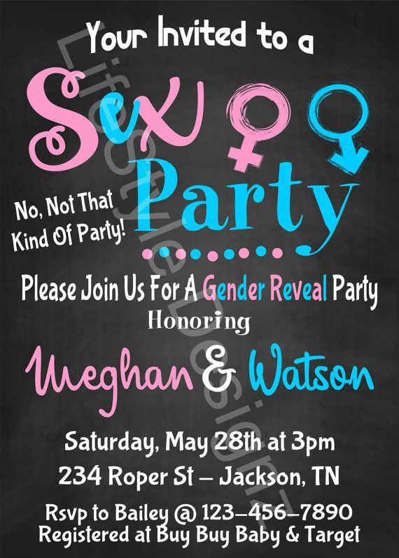 Gender Reveal Invitation Sex Party Gender by LifestyleDesignz