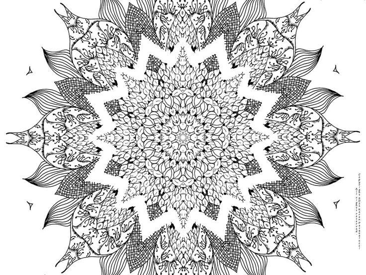 24 best Mandalas images on Pinterest Coloring books Mandala