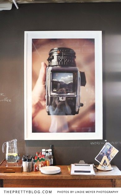 Camera wall art | Haas Collective | Photography: Lindie Meyer
