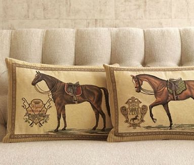 decorative product pillow horse products equestrian image covers