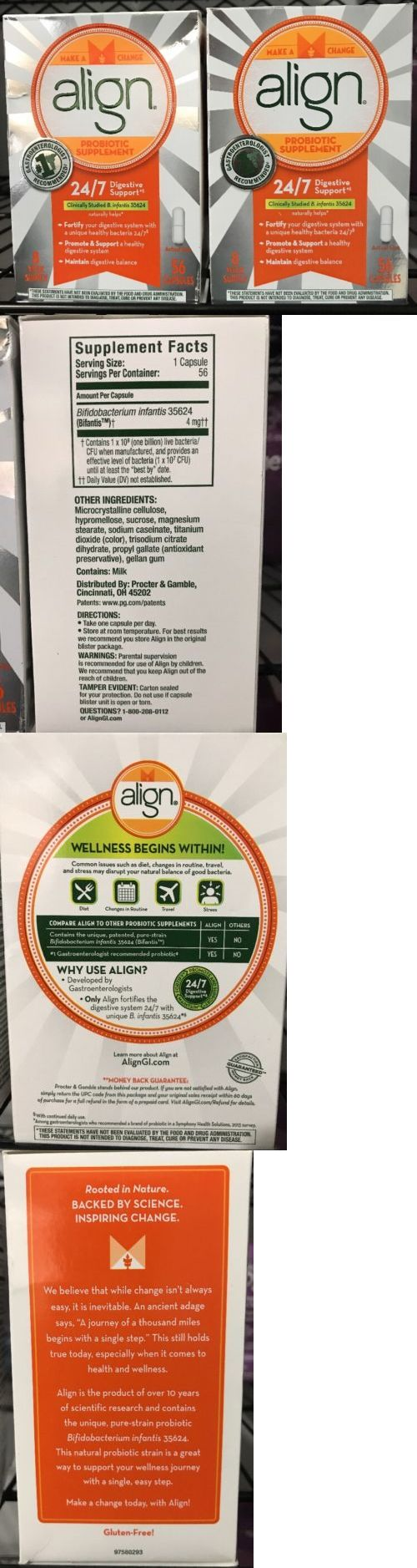 Digestion and Nausea: Align Probiotic Supplement 112 Capsules 24 7 Digestive System Support -> BUY IT NOW ONLY: $50 on eBay!