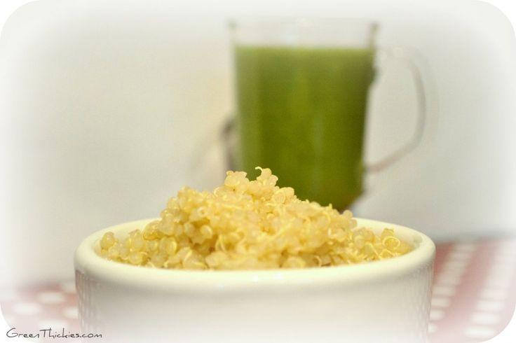 How to make a quinoa smoothie: Honeydew and peach quinoa smoothie
