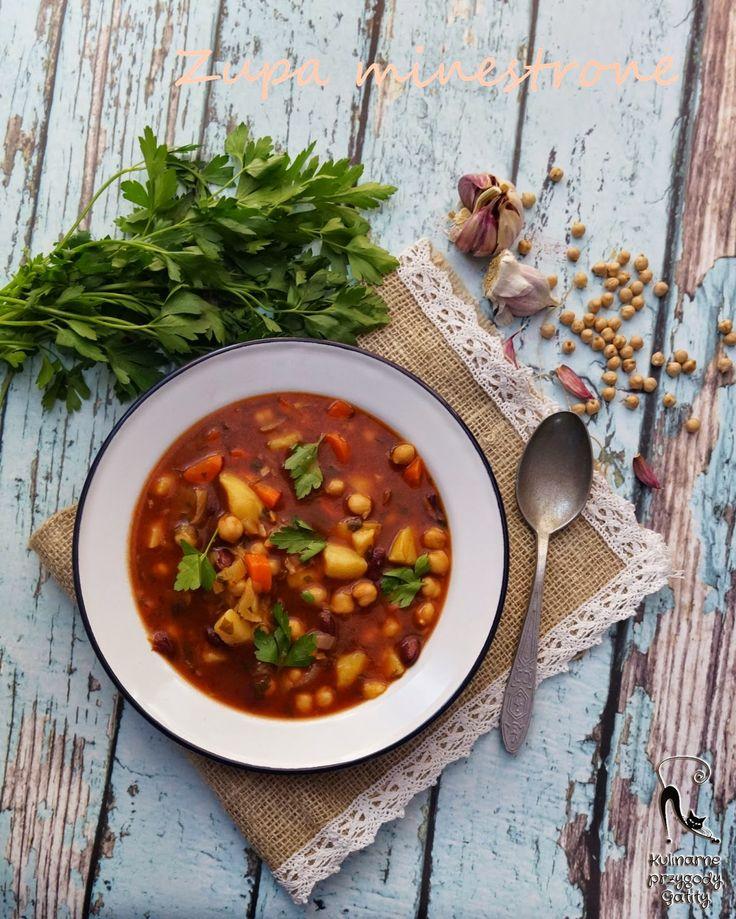 Kulinarne przygody Gatity - przepisy pełne smaku: Sardyńska zupa warzywna minestrone, przepis na dłu...