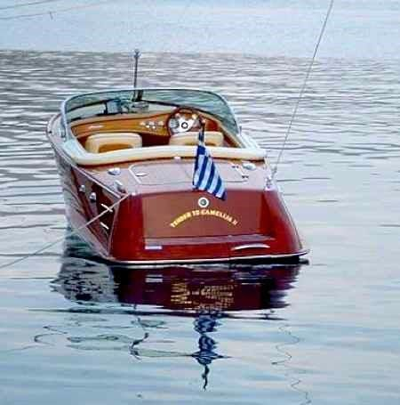 RIVA of The Camellia Yacht: The Ionian is the perfect territory for cruising –  All you need is a classic motor yacht with lovely lines, gleaming teak, and a polished wooden  Riva as a tender. A stately pace and old fashioned elegance that don't disturb the loveliness of nature. #FiveStarGreece #LuxuryYachts #HolidayMatchmakers