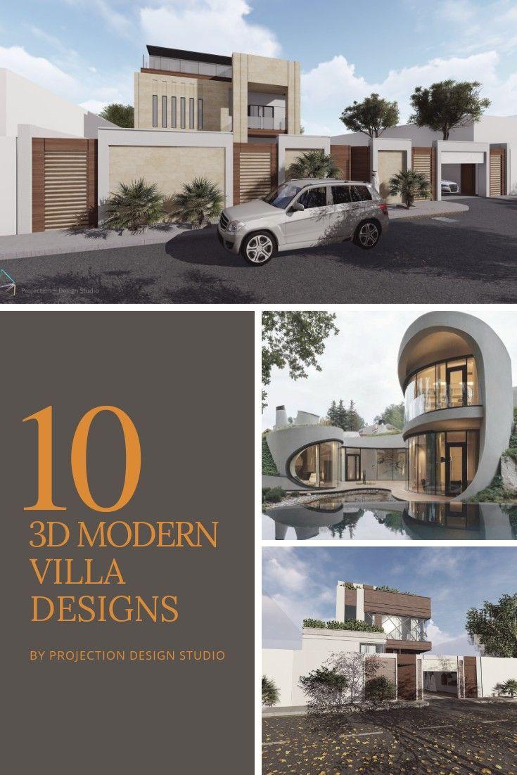 10 تصاميم فلل حديثة Modern Villa Design Villa Design Design Studio