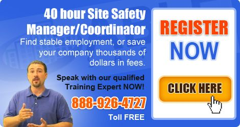 The 40hr Site Safety Manager Training Course test will comprise of a written examination of the multiple-choice type to assess candidates' knowledge of regulations and rules regulating workplace safety at a construction site in NYC.