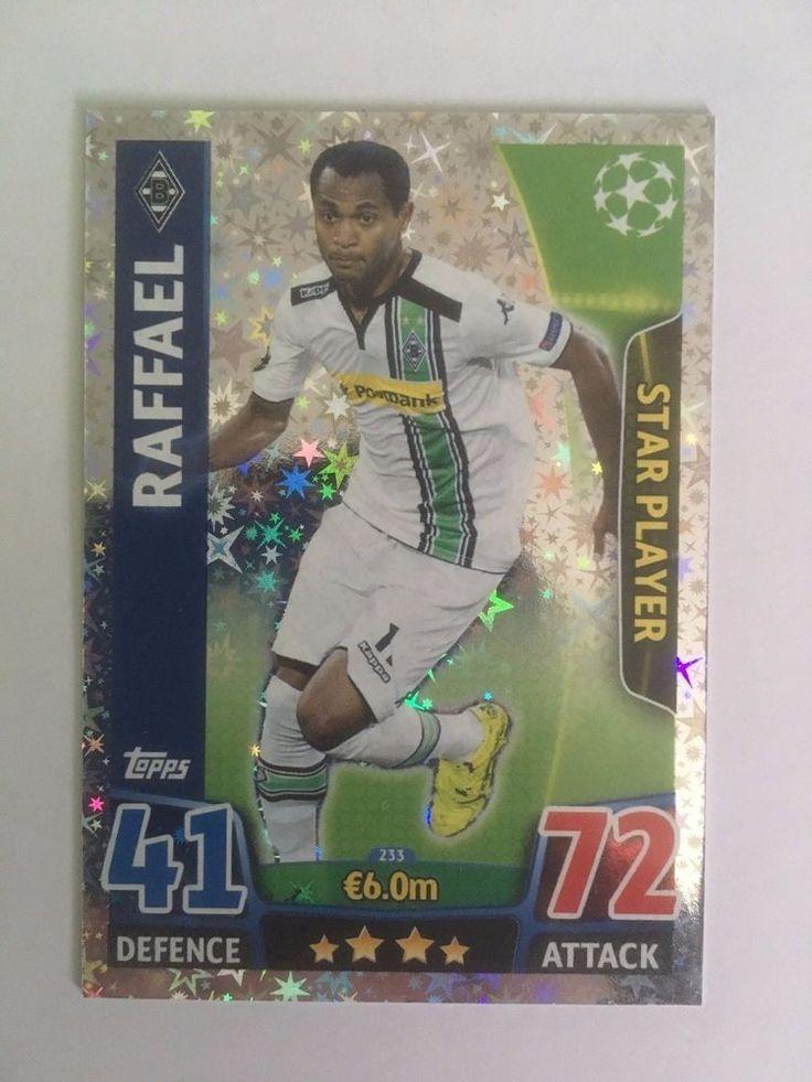 Match Attax 2015/16 Borussia Mönchengladbach Raffael Star Shiny Trading Card
