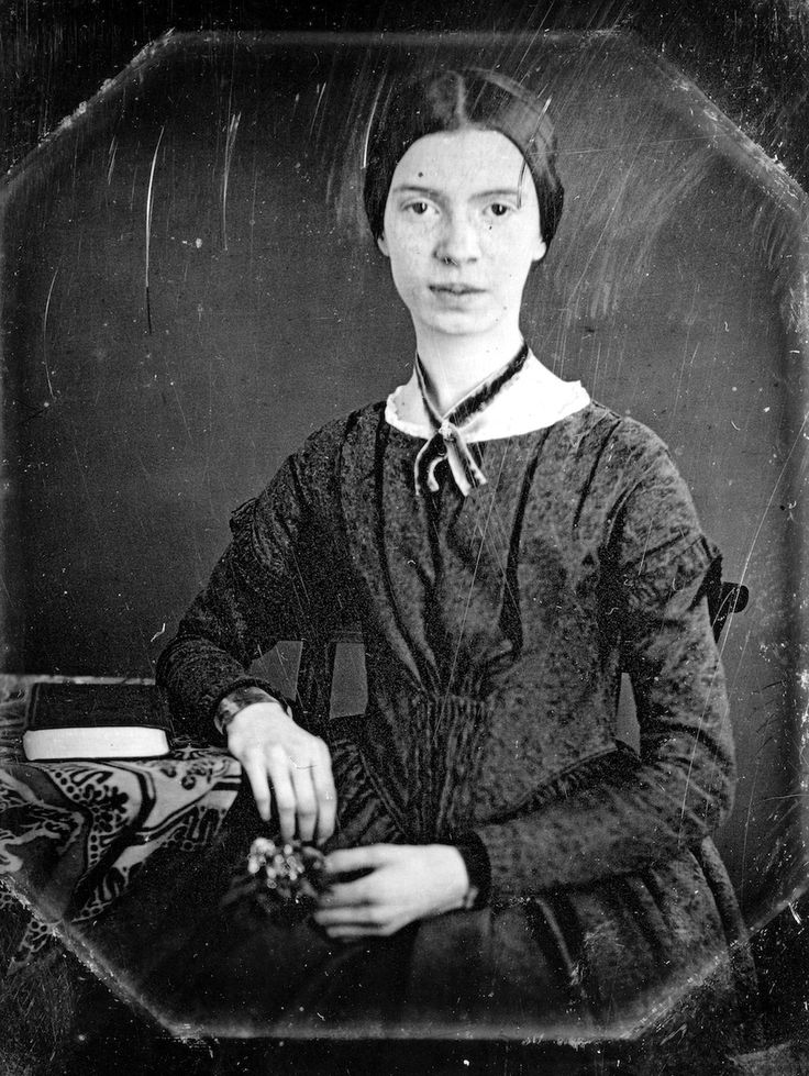 The Only Other Known Photo Of Emily Dickinson, Taken In 1847 When She Was A Teenager