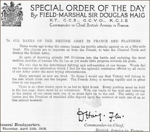 Nijemci u proljeću napadaju britanske i i francuske snage, ali su sile Antatne poduzele su veliki protunapad nanoseći Nijemcima teške gubitke. Britanske novine, 11.4.1918.
